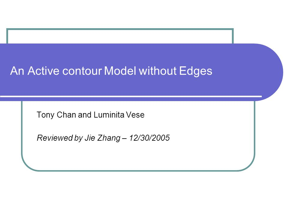 An Active contour Model without Edges