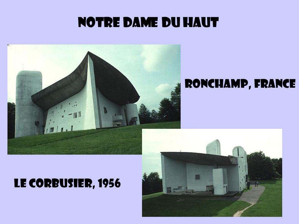 Notre dame du haut Ronchamp, France Le Corbusier, 1956