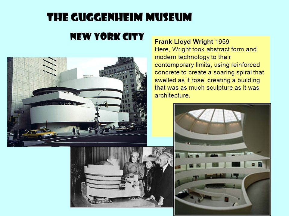 The Guggenheim museum New York city Frank Lloyd Wright 1959
