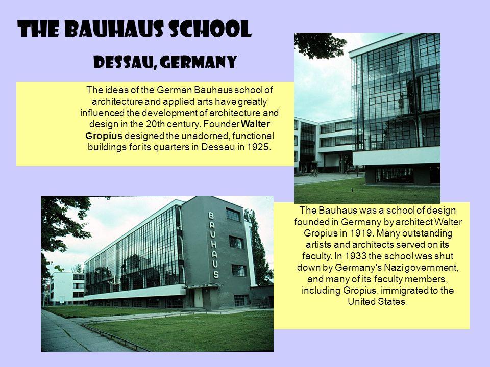 The Bauhaus School Dessau, Germany