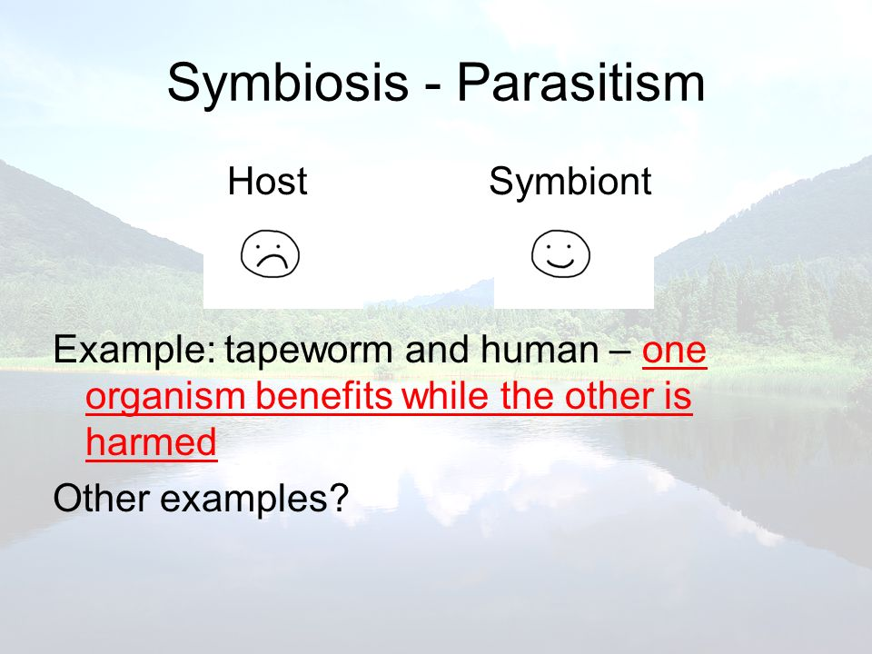 Symbiosis - Parasitism