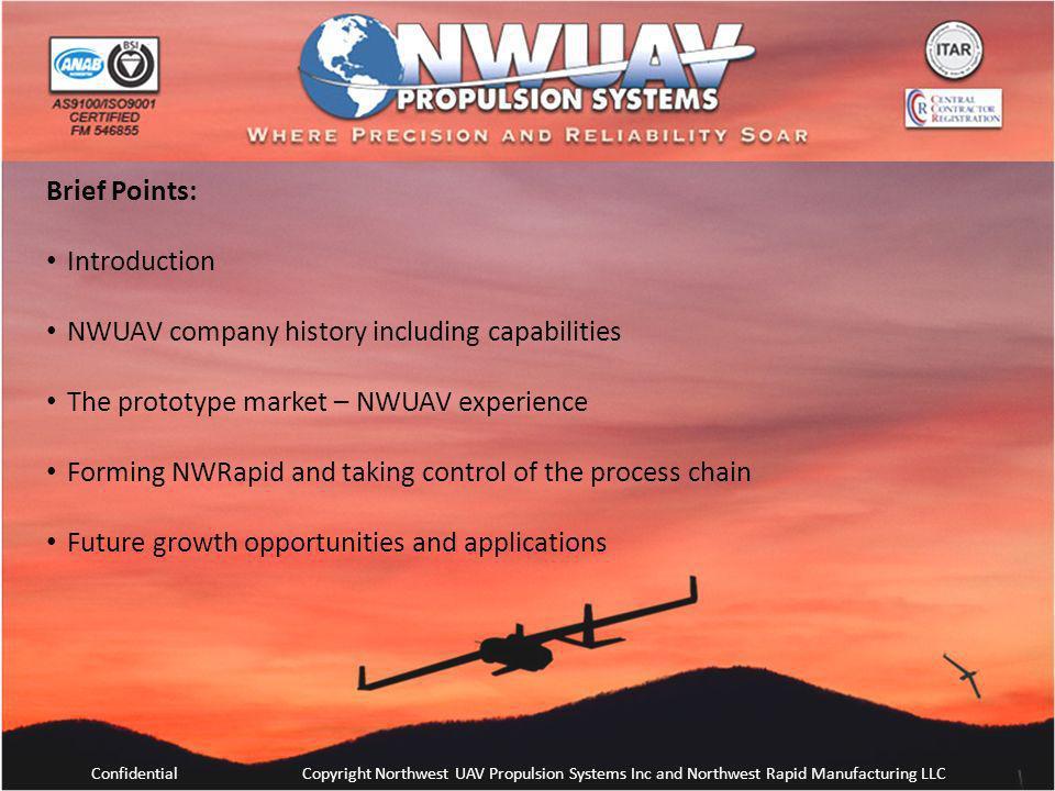 NWUAV company history including capabilities