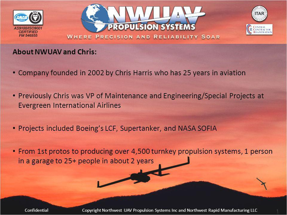 Company founded in 2002 by Chris Harris who has 25 years in aviation