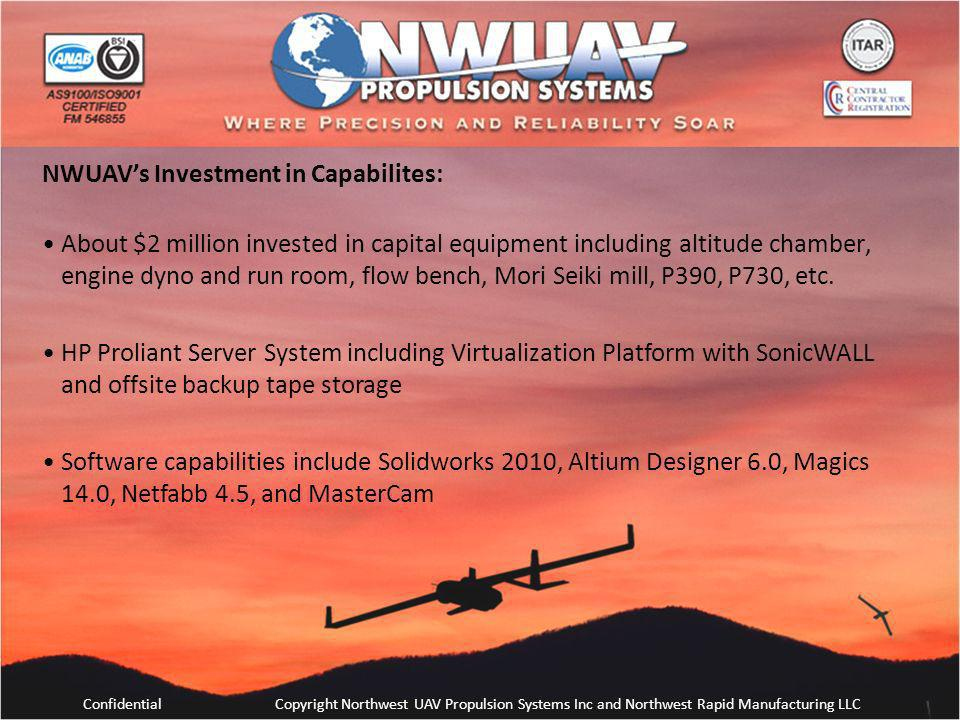 NWUAV's Investment in Capabilites:
