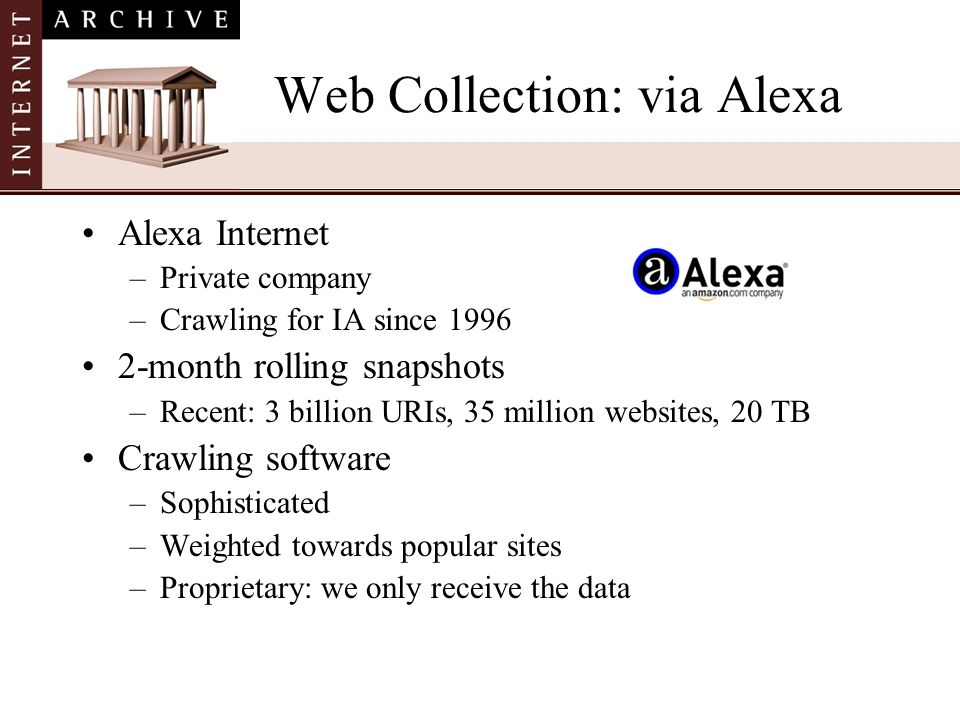 Web Collection: via Alexa