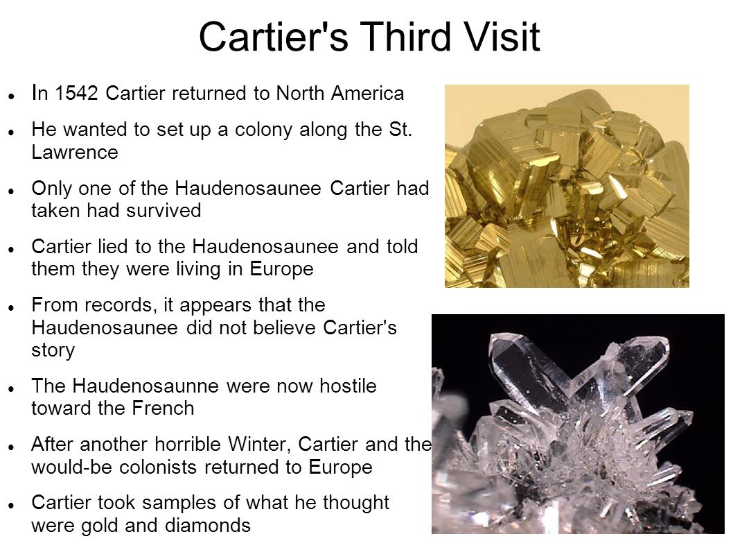 Cartier s Third Visit In 1542 Cartier returned to North America