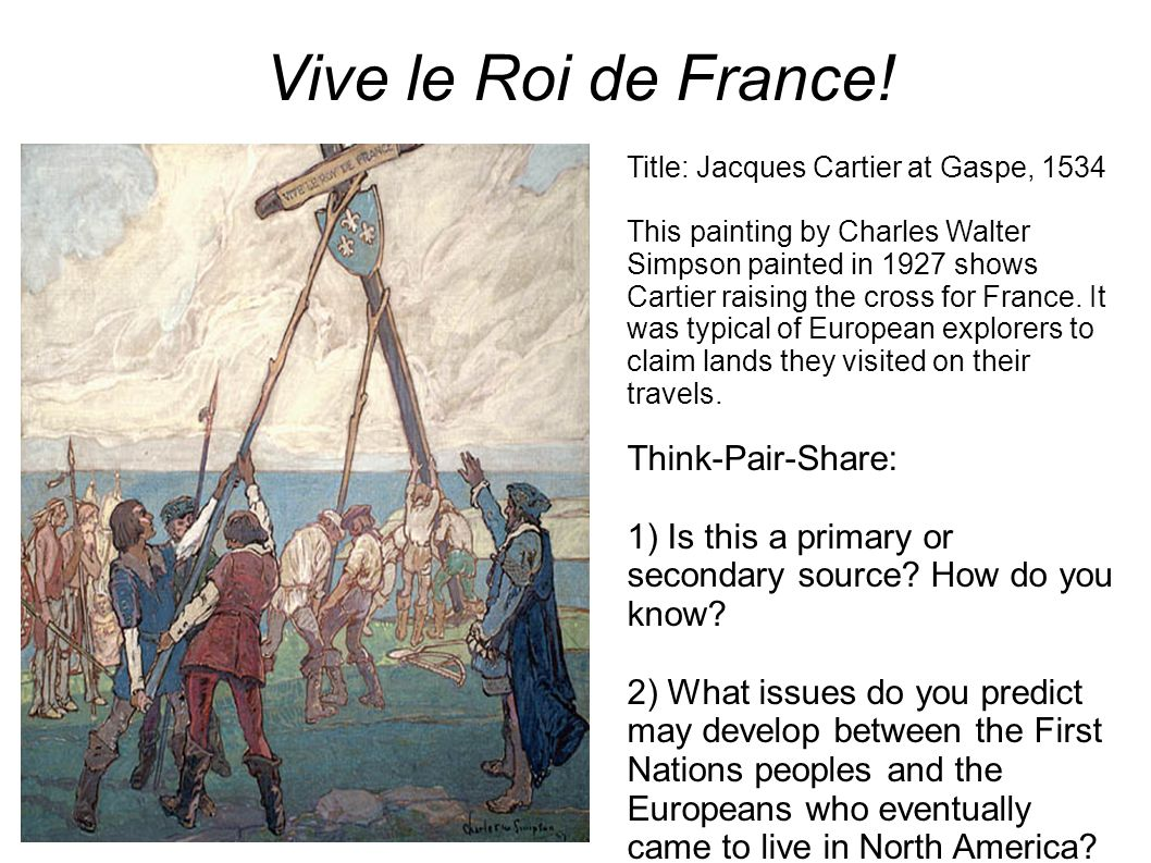 Vive le Roi de France! Think-Pair-Share: