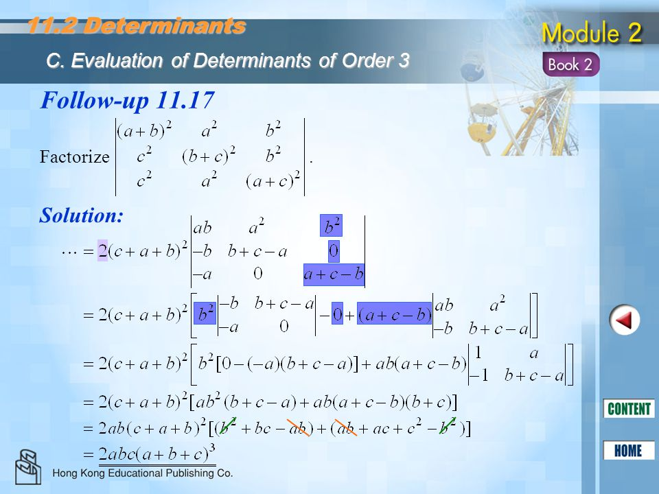 Follow-up 11.17 11.2 Determinants Solution: