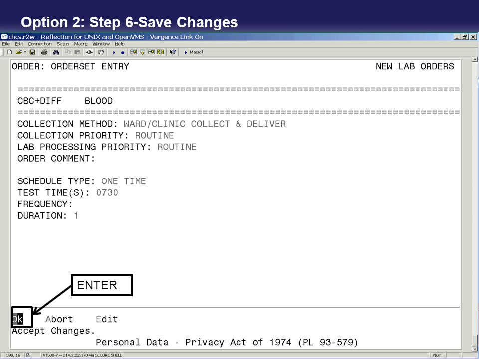Option 2: Step 6-Save Changes