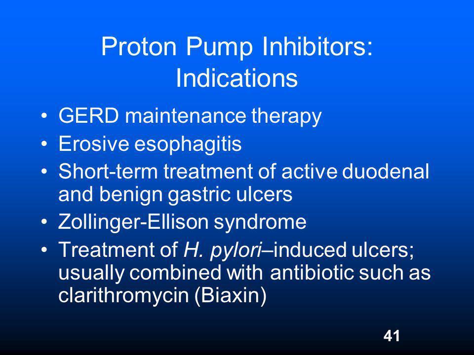 Proton Pump Inhibitors: Indications