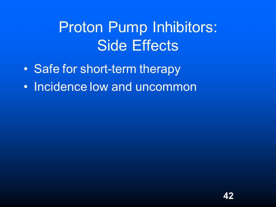 Proton Pump Inhibitors: Side Effects