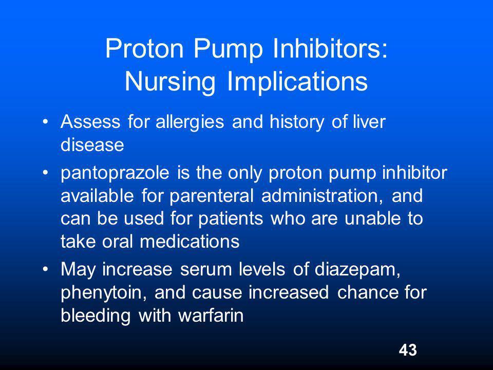 Proton Pump Inhibitors: Nursing Implications