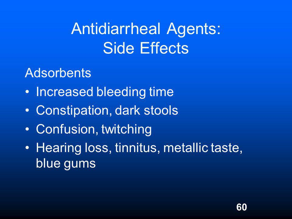 Antidiarrheal Agents: Side Effects
