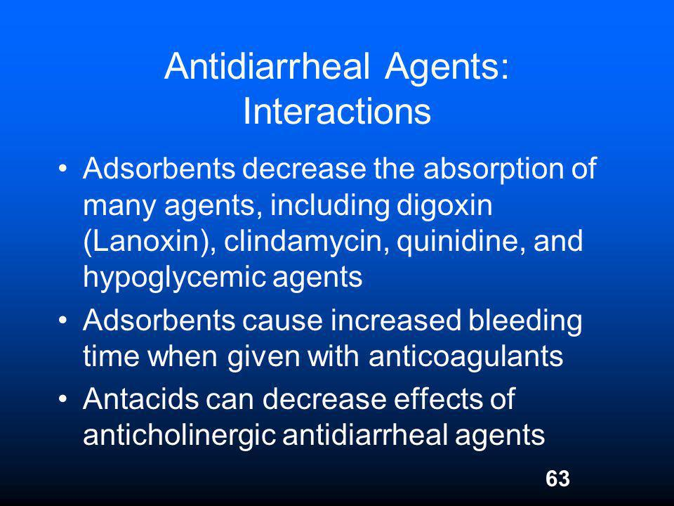 Antidiarrheal Agents: Interactions