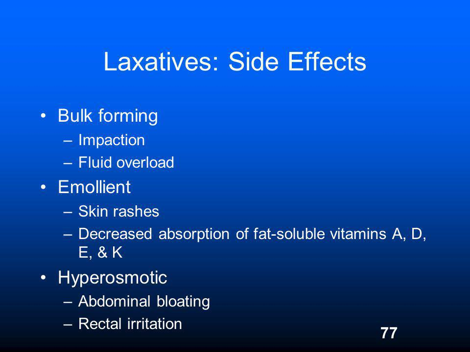 Laxatives: Side Effects