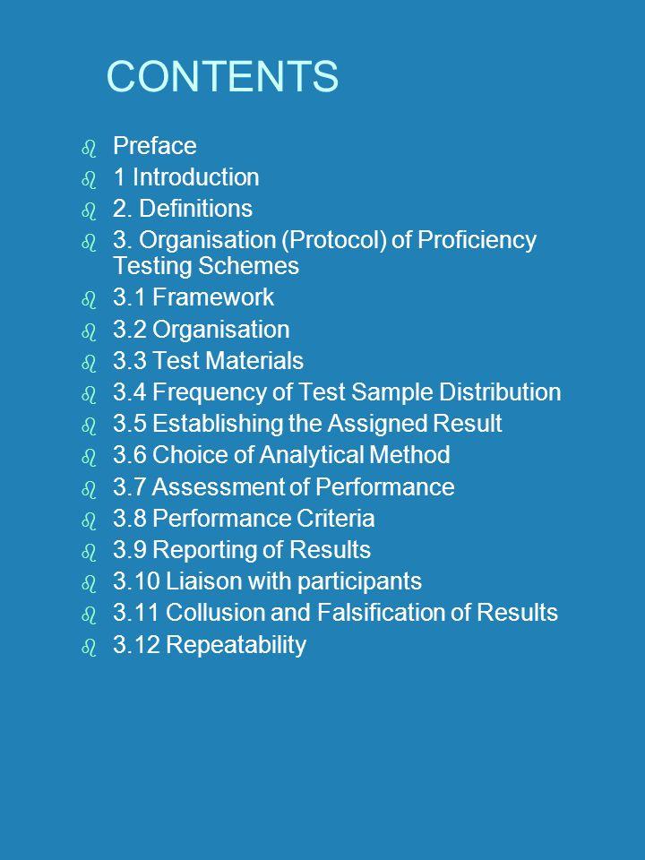 CONTENTS Preface 1 Introduction 2. Definitions