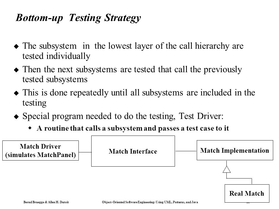 Bottom-up Testing Strategy
