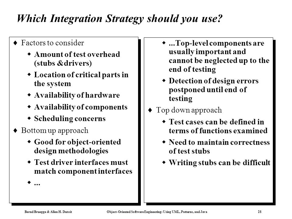 Which Integration Strategy should you use