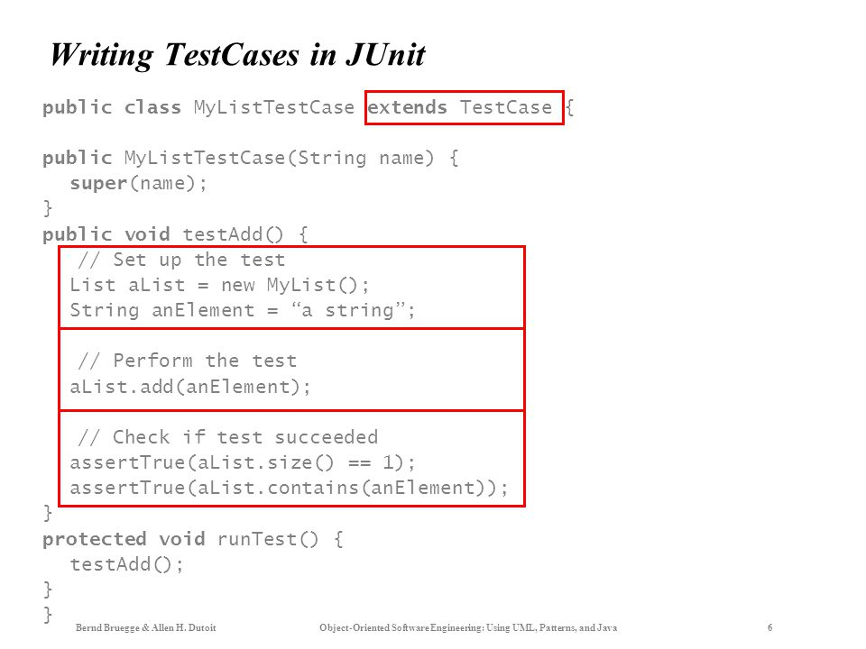 Writing TestCases in JUnit