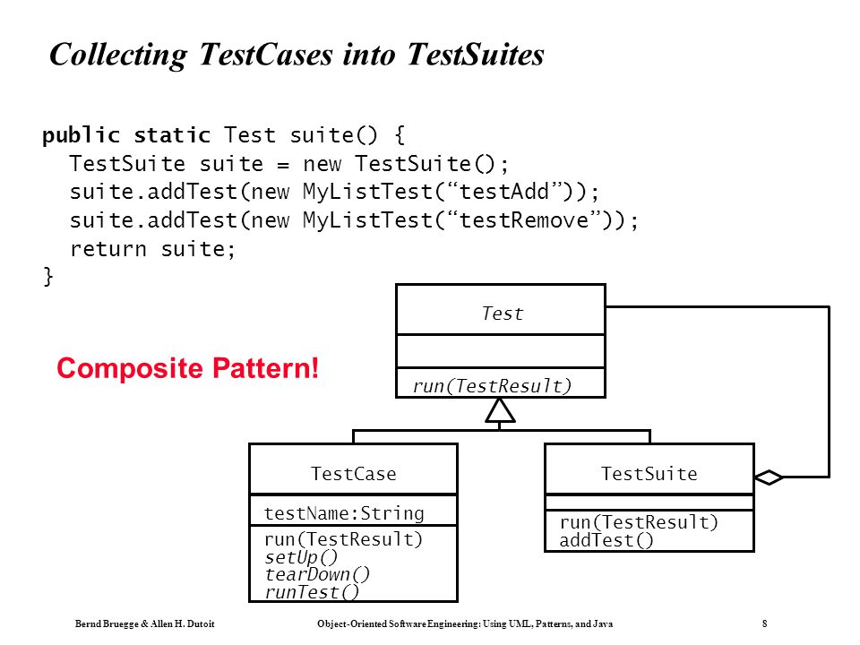 Collecting TestCases into TestSuites