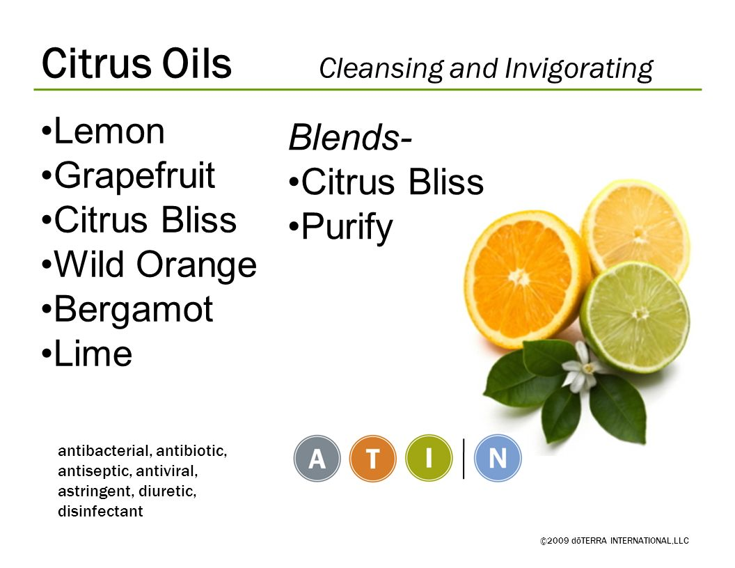 Citrus Oils Cleansing and Invigorating