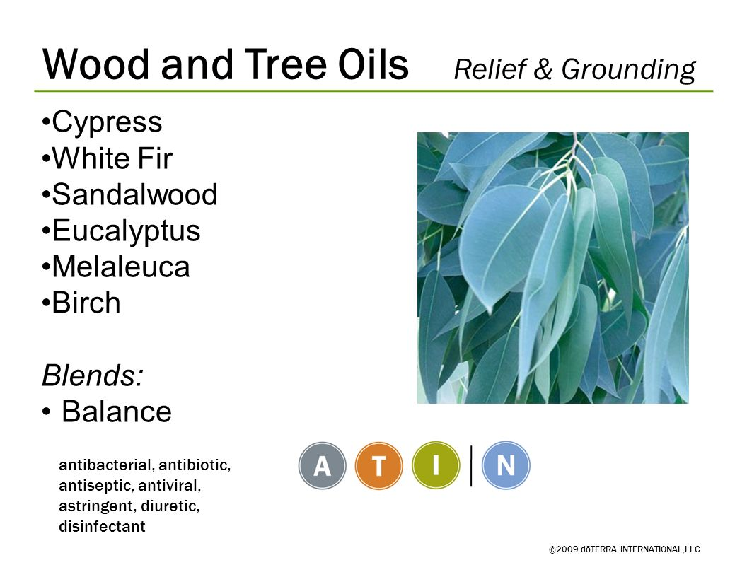 Wood and Tree Oils Relief & Grounding
