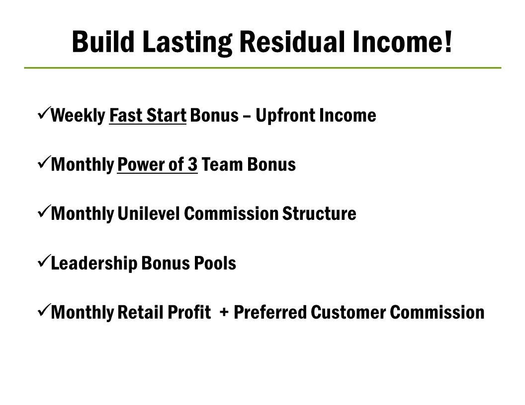 Build Lasting Residual Income!