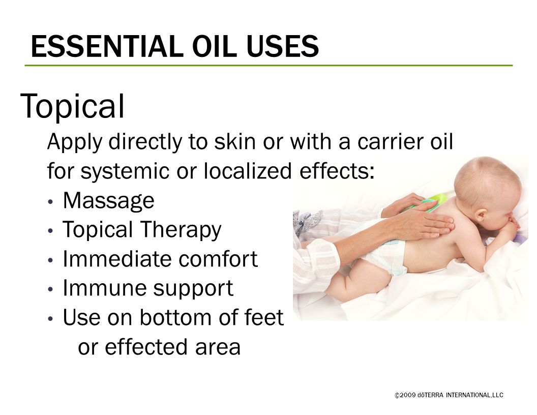 Topical ESSENTIAL OIL USES