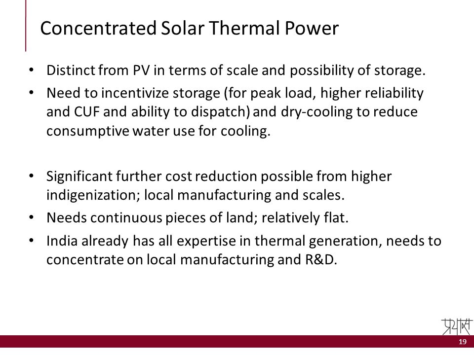 Concentrated Solar Thermal Power
