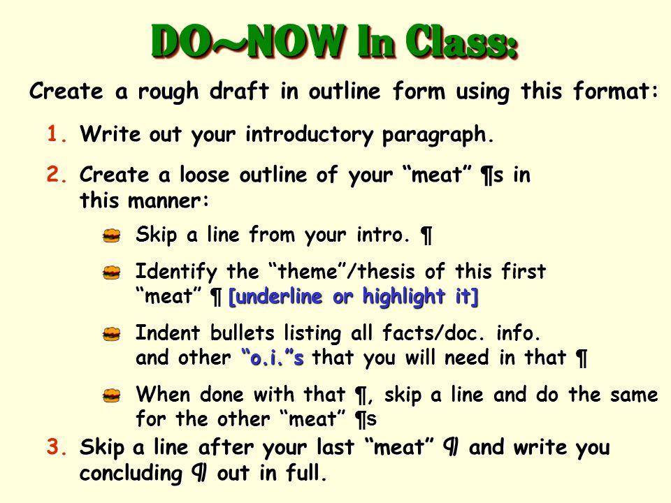 how do you write an essay format