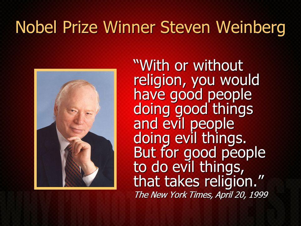 Nobel Prize Winner Steven Weinberg