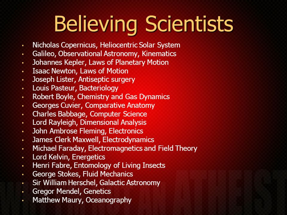Believing Scientists Nicholas Copernicus, Heliocentric Solar System