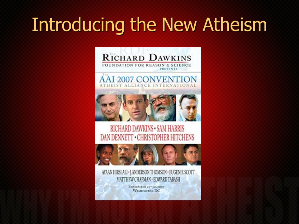 Introducing the New Atheism