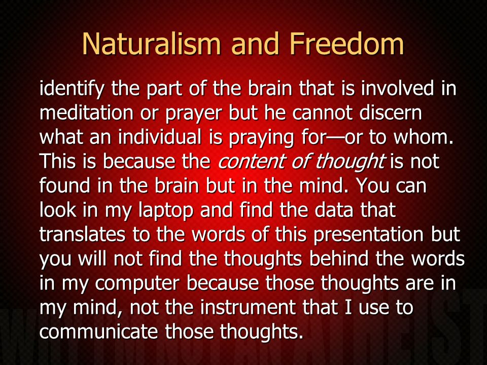 Naturalism and Freedom