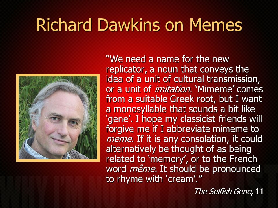 Richard Dawkins on Memes