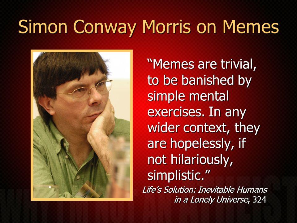 Simon Conway Morris on Memes