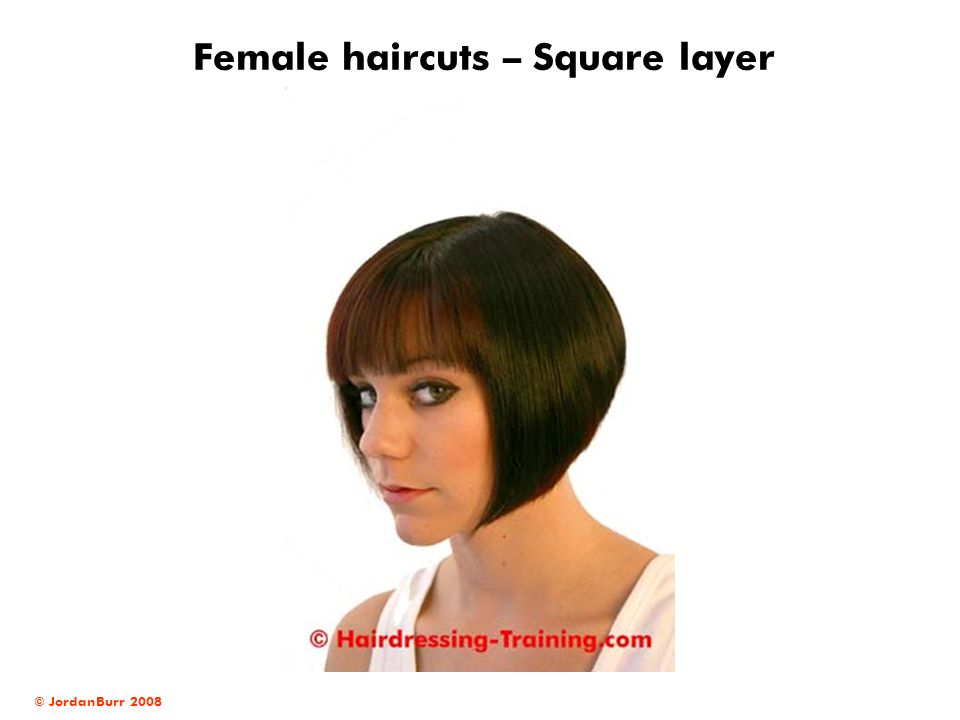 Female haircuts – Square layer