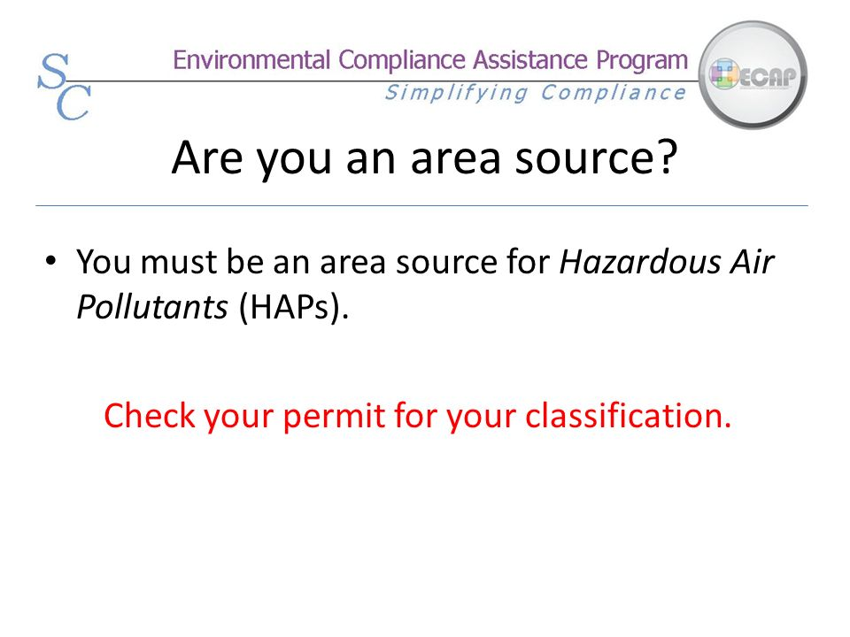 Check your permit for your classification.