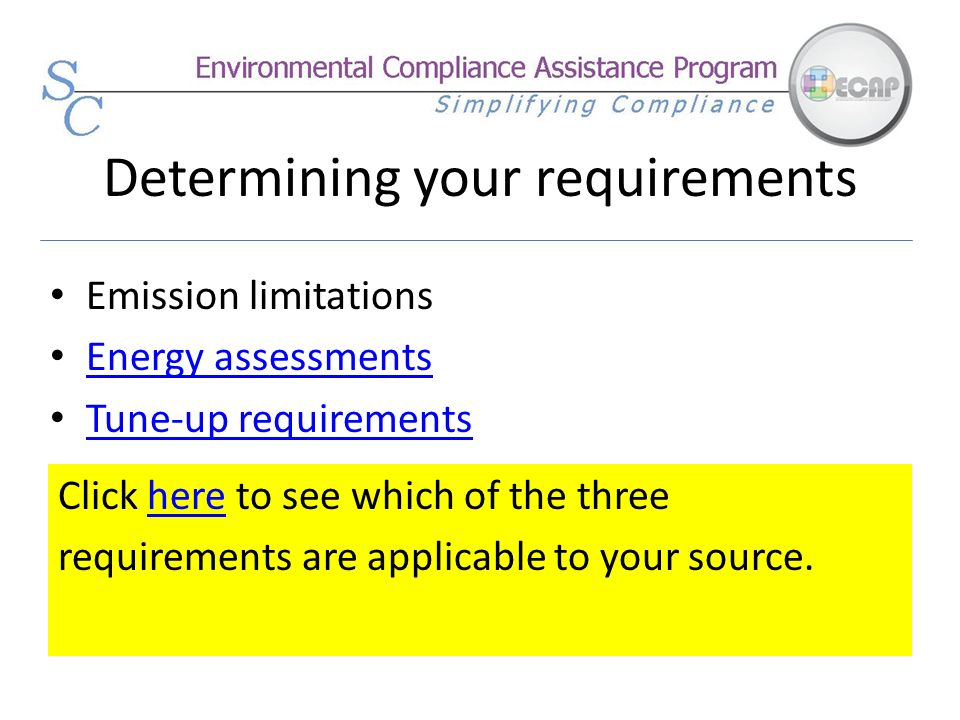 Determining your requirements