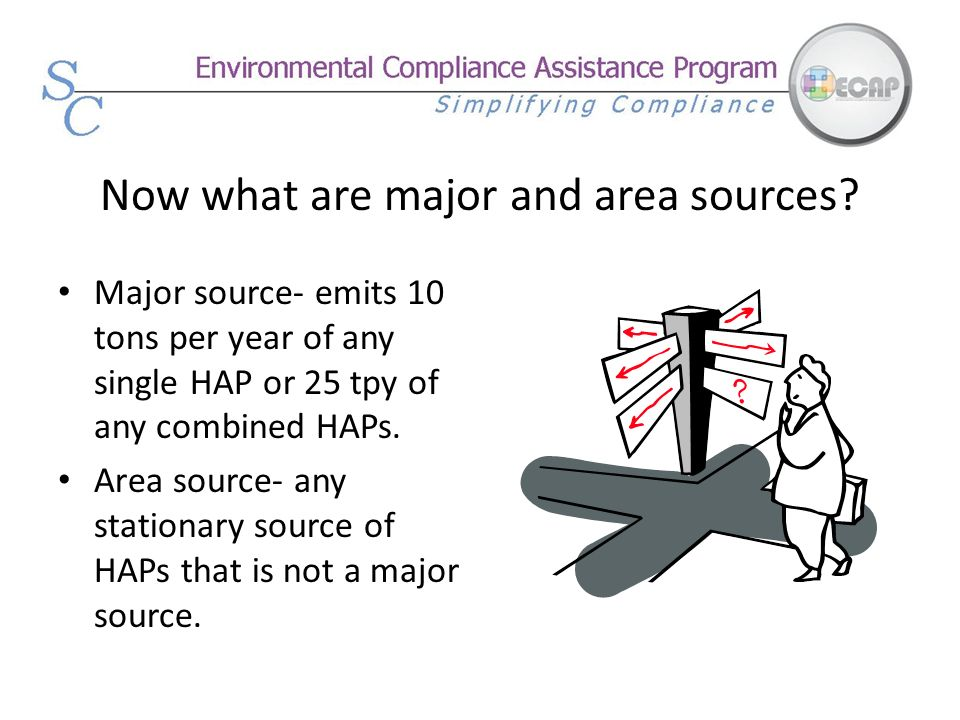 Now what are major and area sources