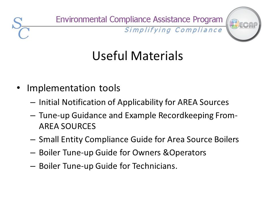 Useful Materials Implementation tools