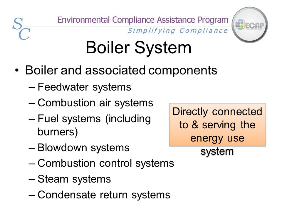 Directly connected to & serving the energy use system