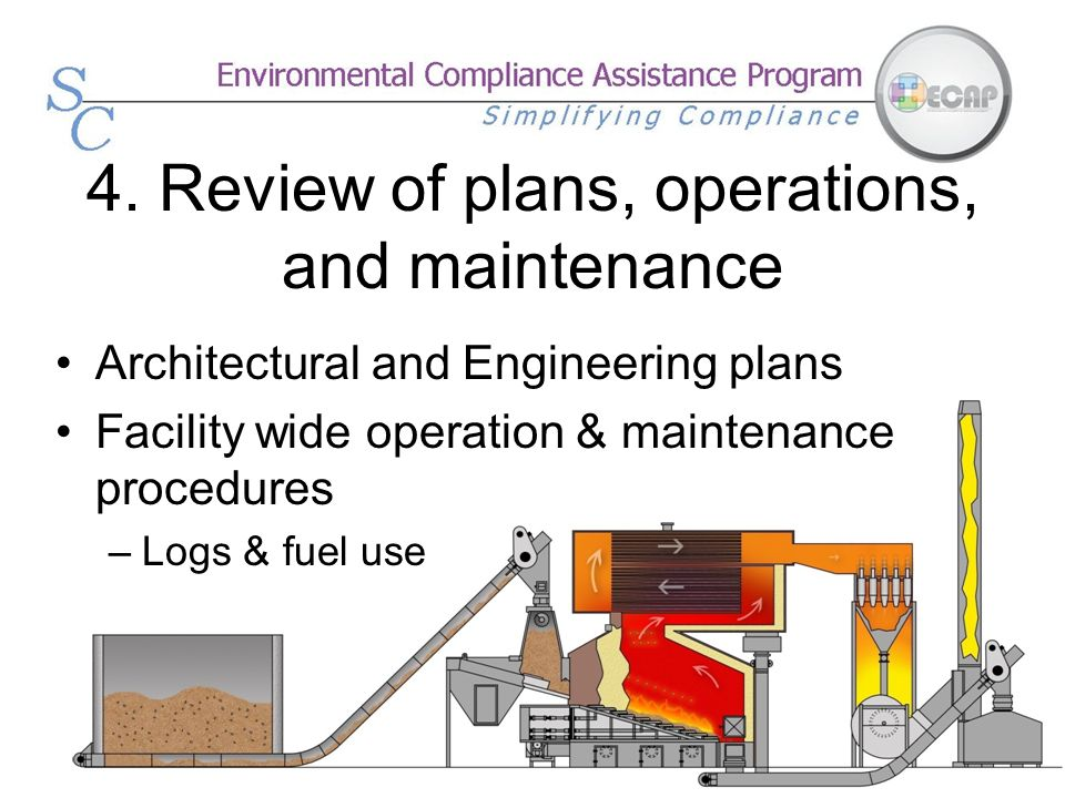4. Review of plans, operations, and maintenance