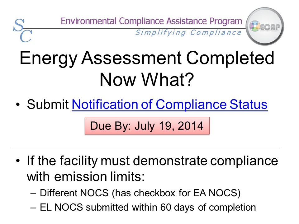 Energy Assessment Completed Now What