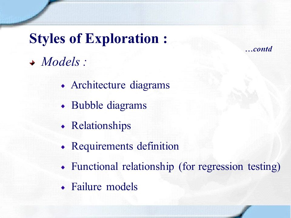 Styles of Exploration :