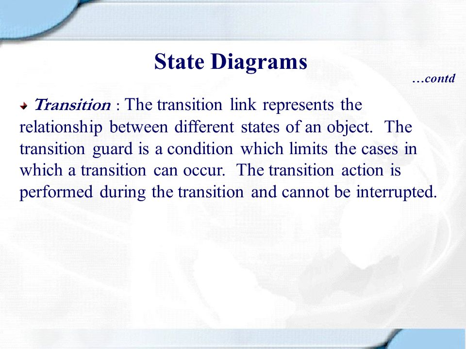 State Diagrams …contd.