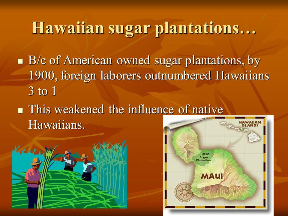 Hawaiian sugar plantations…