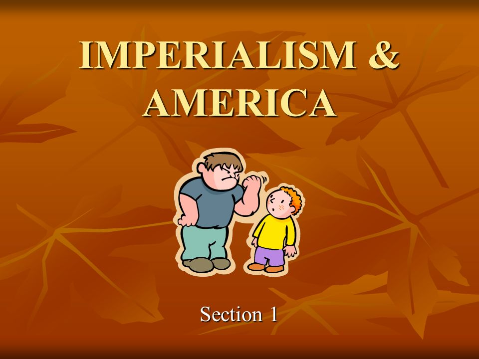 IMPERIALISM & AMERICA Section 1