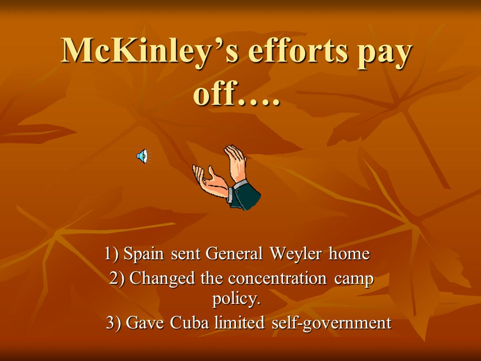 McKinley's efforts pay off….