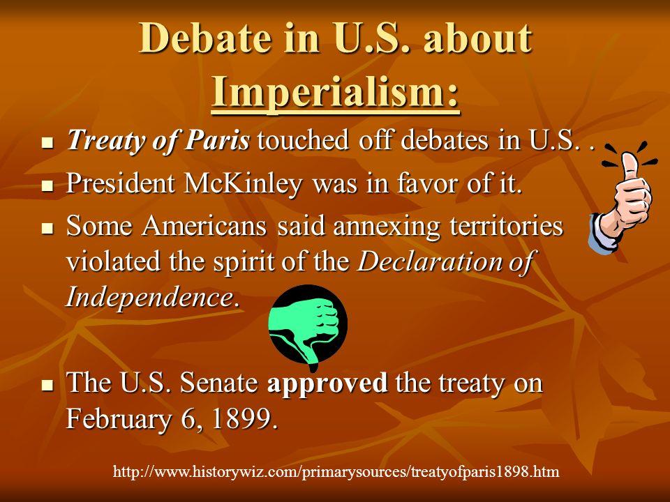 Debate in U.S. about Imperialism:
